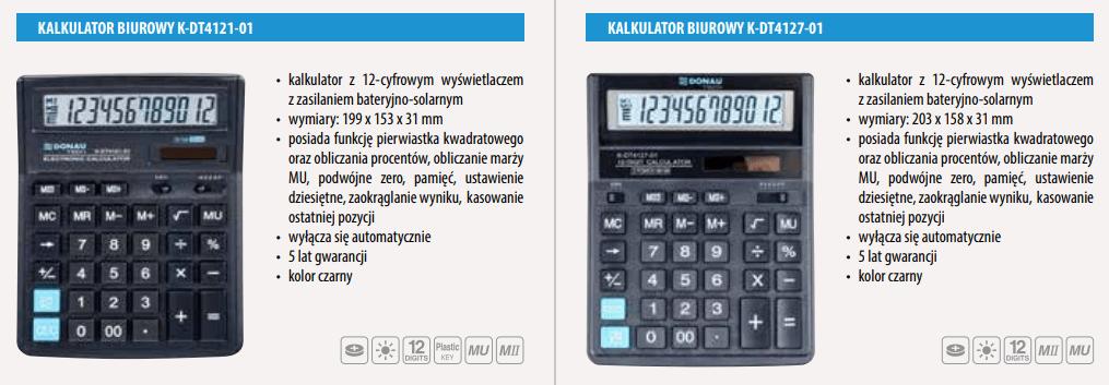 kalkulatory biurowe