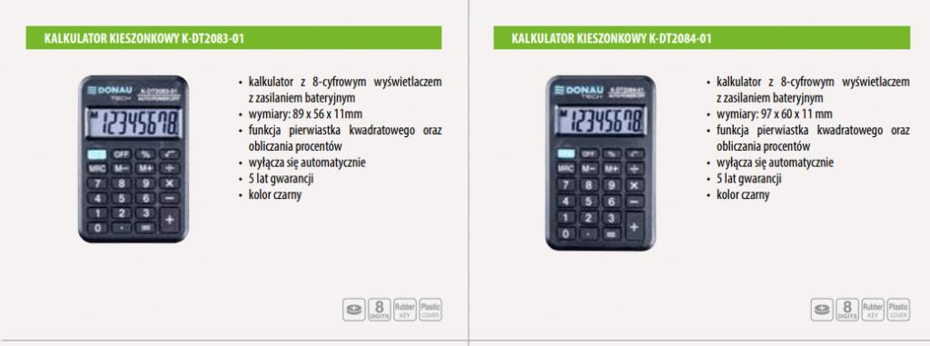 kalkulatory kieszonkowe
